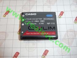 Оригинальный аккумулятор NP-110 для фотоаппаратов CASIO